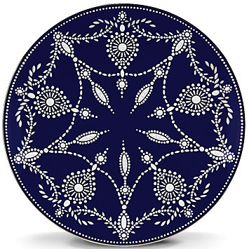 $55.00 Marchesa Empire Indigo Accent Plate